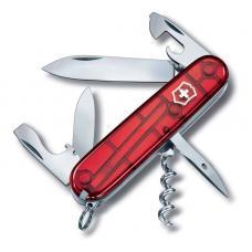 Нож Victorinox Spartan, 91 мм, 12 функций, прозрачный красный