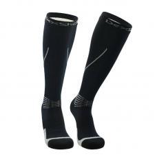 Водонепроницаемые носки Dexshell Mudder L (43-46), Черные с серыми полосками