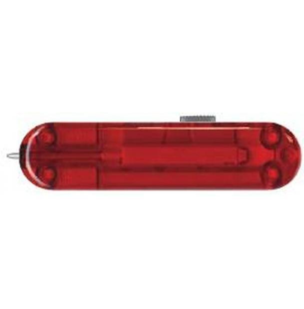 Задняя накладка для ножей VICTORINOX 58 мм, пластиковая, полупрозрачная красная
