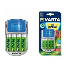 Зарядное устройство VARTA LCD Charger+4xАА 2600 мАч