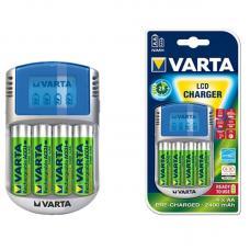 Зарядное устройство VARTA LCD Plug Charger + 4xАА 2100 мАч
