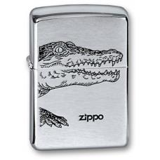 Зажигалка ZIPPO Alligator Brushed Chrome