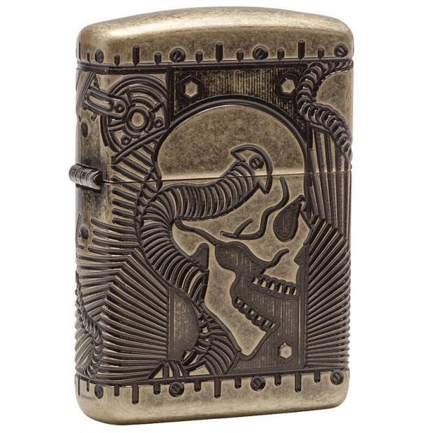 Зажигалка ZIPPO Armor Antique Brass