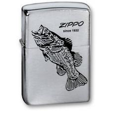 Зажигалка ZIPPO Black Bass Brushed Chrome