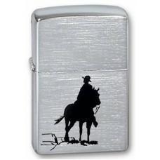 Зажигалка ZIPPO Bronco Cowboy Brushed Chrome