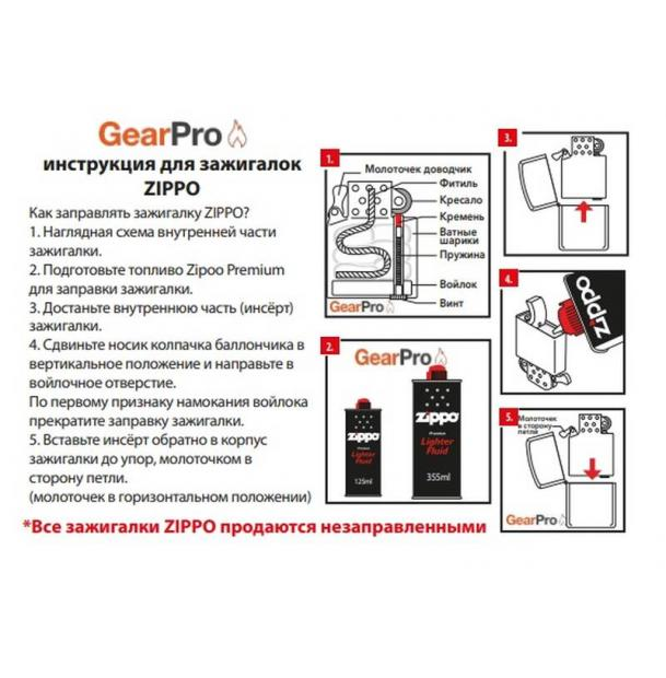 Зажигалка ZIPPO Classic Brushed Chrome