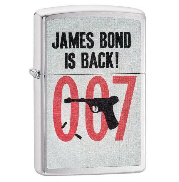 Зажигалка ZIPPO James Bond Brushed Chrome