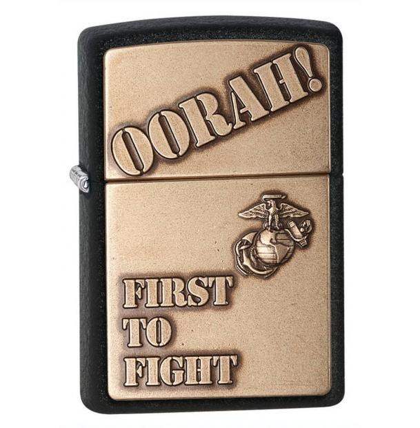 Зажигалка ZIPPO Marines Black Crackle