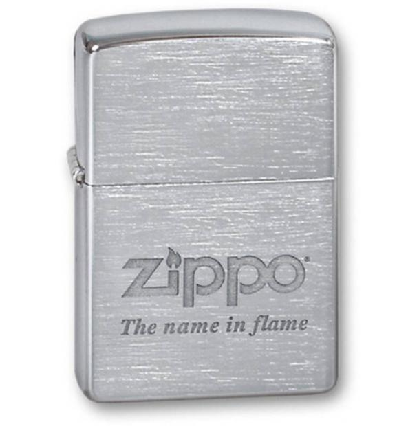 Зажигалка ZIPPO Name In Flame Brushed Chrome