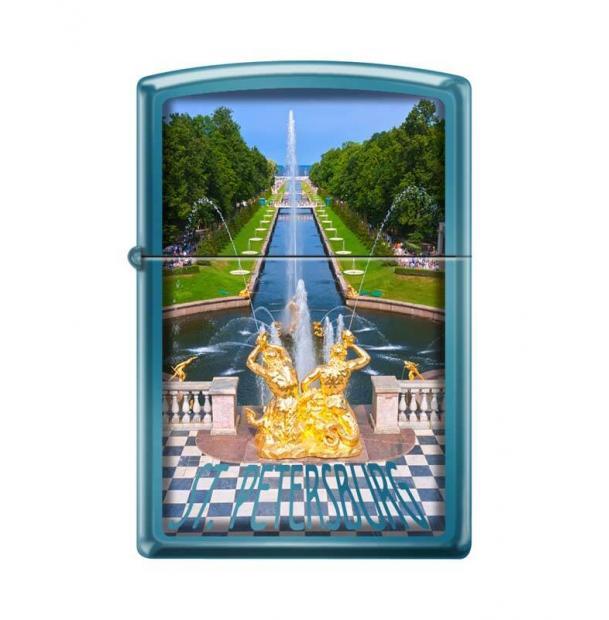 Зажигалка ZIPPO Петергофский фонтан Sapphire
