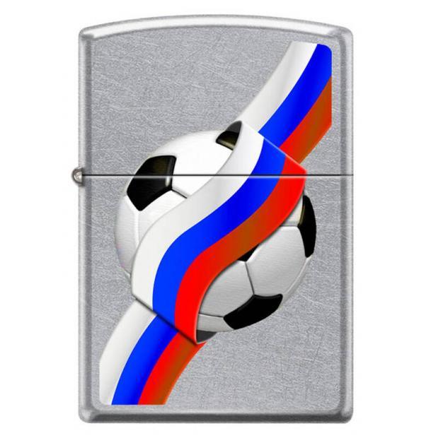 Зажигалка ZIPPO Российский футбол Street Chrome