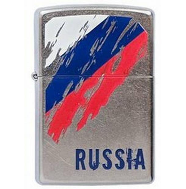 Зажигалка ZIPPO Russia Flag Street Chrome
