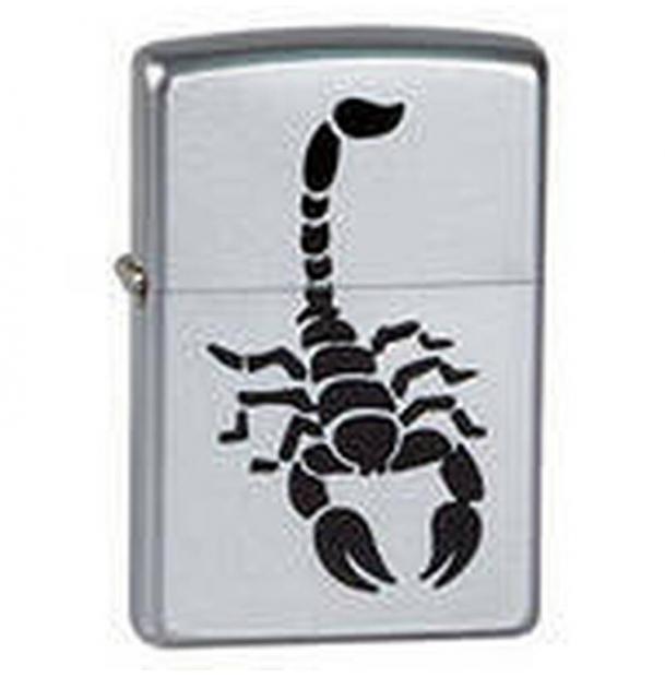 Зажигалка ZIPPO Scorpion Satin Chrome