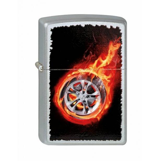 Зажигалка ZIPPO Tire On Fire Satin Chrome