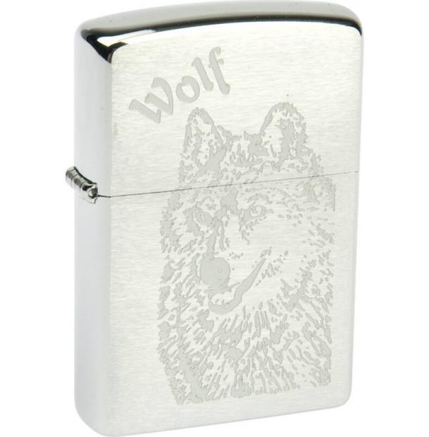 Зажигалка ZIPPO Wolf Brushed Chrome