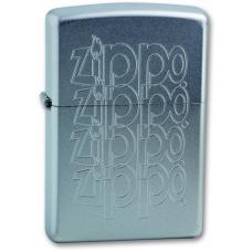 """Зажигалка ZIPPO """"ZIPPO Logo"""" Satin Chrome"""