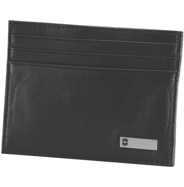 Зажим для денег с клипсой VICTORINOX Altius 3.0 Rome, чёрный, натуральная кожа наппа, 10x1x8 см
