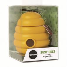 Зажимы канцелярские с магнитным держателем Ototo, Busy Bees