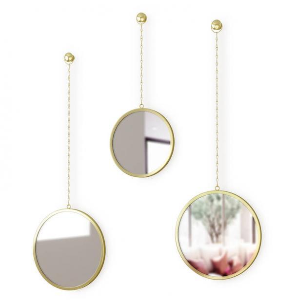 Зеркала декоративные Umbra Dima круглые латунь