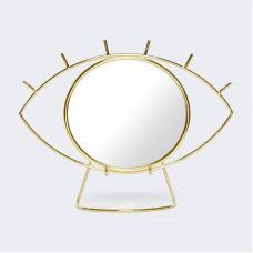 Зеркало настольное Doiy Cyclops золотое